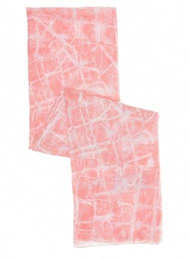 Monamoda Monamoda Geometrik Desenli Kadın Şal Pembe